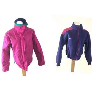 Columbia Vintage pink purple winter jacket 80s